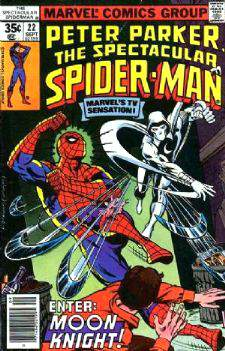 Comic: PETER PARKER the SPECTACULAR SPIDER-MAN #.22 (1978) w/Moon Knight Baseball cards value
