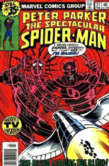 Comic: PETER PARKER the SPECTACULAR SPIDER-MAN #.27 (1978) w/DAREDEVIL Baseball cards value