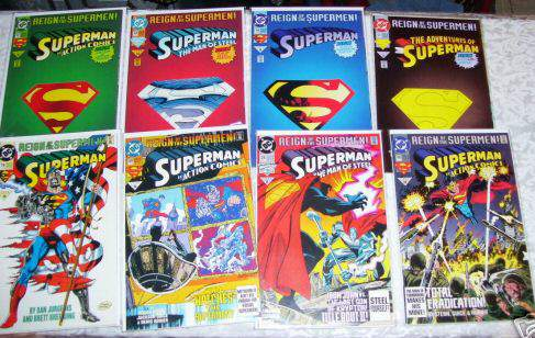 Comic: DC SUPERMAN - LOT of (12) different (1993-94) Baseball cards value