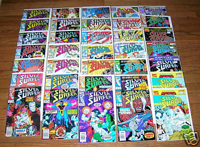 Comic: SILVER SURFER - RUN #17-#27 + #36 + Annual #2 (13 COMICS) Baseball cards value