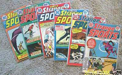 Comic: STRANGE SPORTS STORIES #1-#5 (5 comics) (1973-1974) Baseball cards value