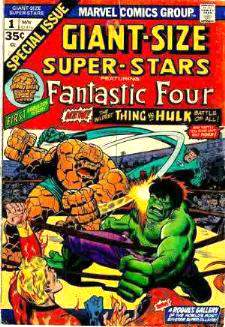 Comic: SUPER-STARS  GIANT-Size #1 featuring Fantastic Four (1974) Baseball cards value