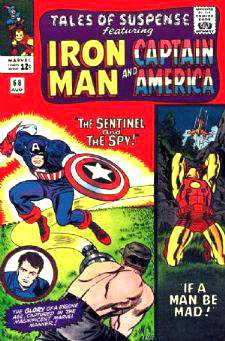Comic:  TALES OF SUSPENSE #68 Featuring IRON MAN & CAPTAIN AMERICA Baseball cards value