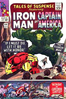 Comic:  TALES OF SUSPENSE #69 Featuring IRON MAN & CAPTAIN AMERICA Baseball cards value
