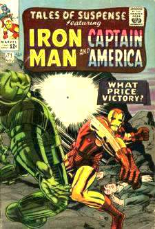 Comic:  TALES OF SUSPENSE #71 Featuring IRON MAN & CAPTAIN AMERICA Baseball cards value