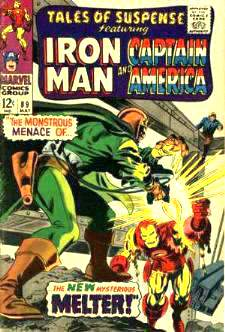 Comic:  TALES OF SUSPENSE #89 Featuring IRON MAN & CAPTAIN AMERICA Baseball cards value