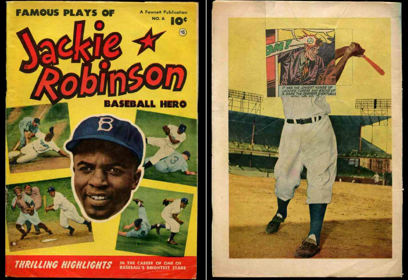 1952 Jackie Robinson #6 'Famous Plays' Comic Book (Dodgers, 32 pages) Baseball cards value