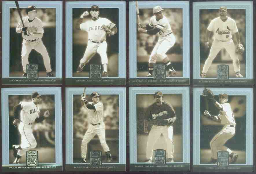 2005 Donruss GREATS - COMPLETE SET (150 cards) Baseball cards value