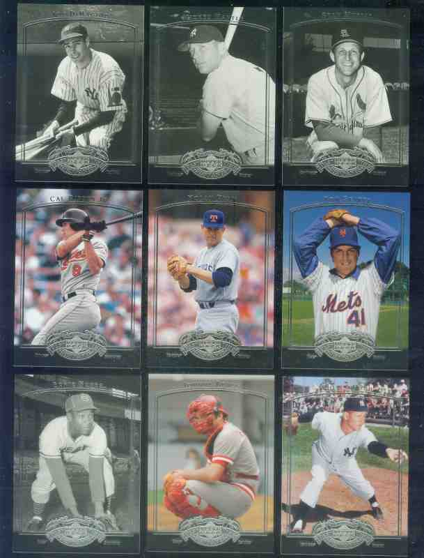 2005 UD Pastime Pennants - COMPLETE base SET (#1-90) Baseball cards value