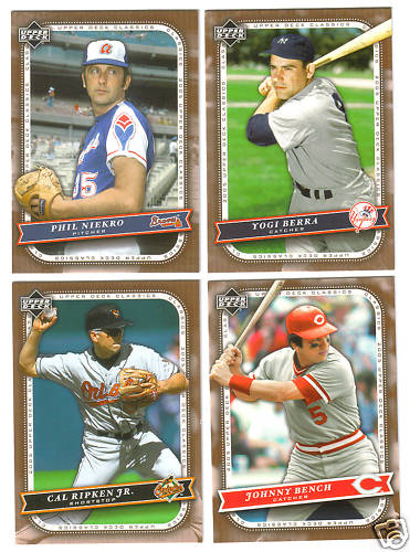 2005 Upper Deck CLASSICS - COMPLETE base SET (#1-100) Baseball cards value