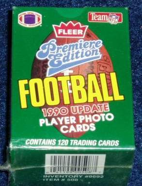 1990 Fleer UPDATE Football - FACTORY SET (120 cards) Football cards value