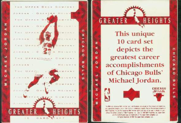 1996 Upper Deck MICHAEL JORDAN 'Greater Heights' Set - NM/MINT in Box !!! Basketball cards value