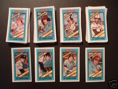 1980 Kellogg's - COMPLETE SET (60 cards) Baseball cards value