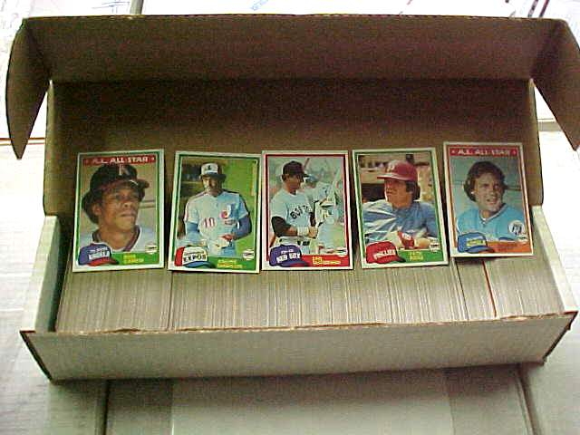 1981 Topps - COMPLETE SET (726 cards) Baseball cards value