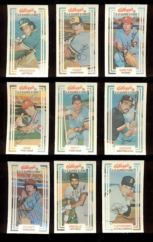 1983 Kellogg's - COMPLETE SET (60 cards) Baseball cards value