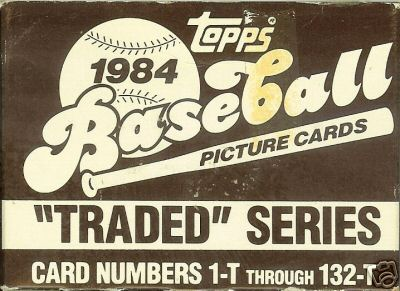 1984 Topps TRADED - Complete FACTORY SET (132 cards) Baseball cards value