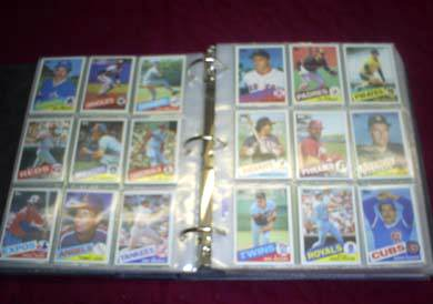 1985 Topps - COMPLETE SET in BINDER & SHEETS (792 cards) Baseball cards value