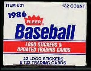 1986 Fleer UPDATE - Complete in FACTORY SET BOX (132 cards) Baseball cards value