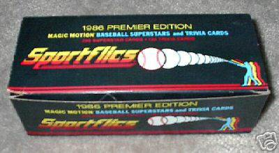 1986 Sportflics - COMPLETE FACTORY SET (200 cards + Trivia cards) Baseball cards value