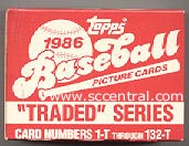1986 Topps TRADED - Complete FACTORY SET (132 cards) Baseball cards value