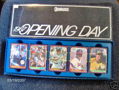 1987 Donruss OPENING DAY -  Near Complete FACTORY SET (271/272 cards) Baseball cards value