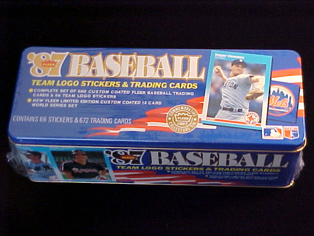 1987 Fleer GLOSSY - COMPLETE TIN SET (672 cards) Baseball cards value