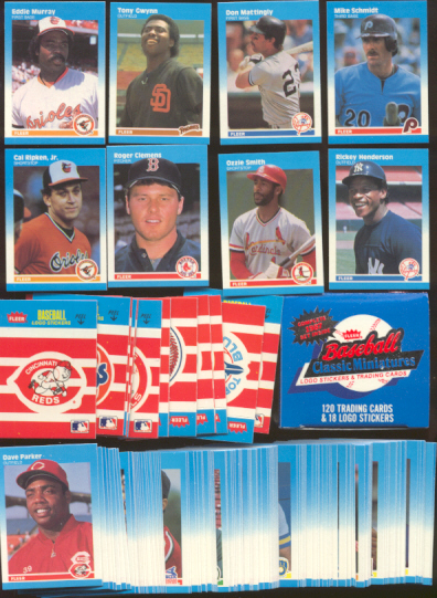 1987 Fleer MINI - COMPLETE SET (120 cards) Baseball cards value