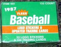 1987 Fleer UPDATE - SEALED FACTORY SET (132 cards) Baseball cards value