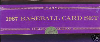 1987 Topps TIFFANY - COMPLETE FACTORY SET (792 cards) Baseball cards value