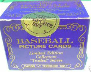 1987 Topps TRADED TIFFANY - COMPLETE FACTORY SET (132 cards) Baseball cards value