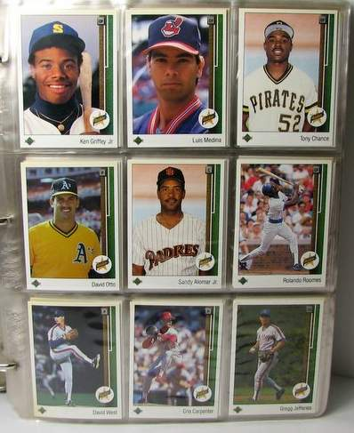 1989 Upper Deck - COMPLETE SET in SHEETS (800 cards) Baseball cards value