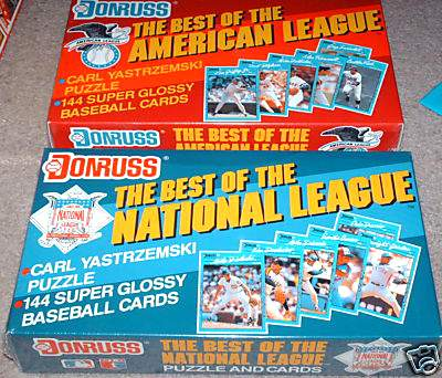 1990 Donruss 'BASEBALL's BEST' - Complete American League Set (144 cards) Baseball cards value