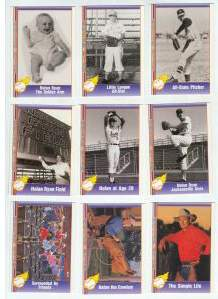 1991 Pacific NOLAN RYAN Series 2 COMPLETE 110-card SET (#111-220) Baseball cards value