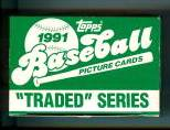 1991 Topps TRADED - Complete FACTORY SET (132 cards) Baseball cards value