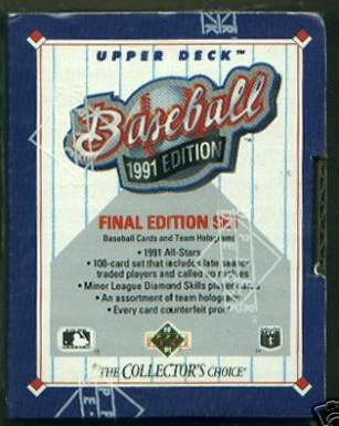 1991 Upper Deck Final Edition - FACTORY SET (100 cards,#701-800) Baseball cards value