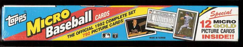 1992 Topps Micro - FACTORY SEALED SET (792 cards + 12 GOLD INSERT CARDS) Baseball cards value