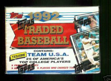 1992 Topps TRADED - Complete FACTORY SET (132 cards) Baseball cards value