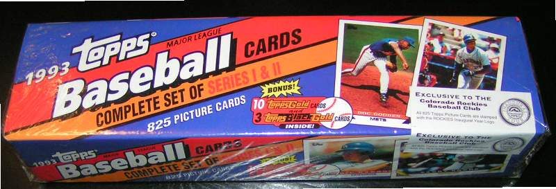 1993 Topps 'INAUGURAL ROCKIES' - NEAR SET (NM/MINT) (824/825 cards) Baseball cards value