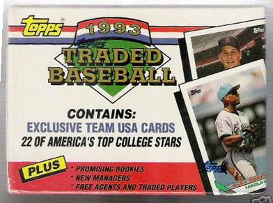 1993 Topps TRADED - Complete FACTORY SET (132 cards) Baseball cards value