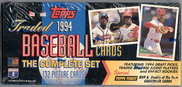 1994 Topps TRADED - Complete FACTORY SET (132 cards) Baseball cards value