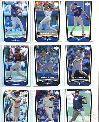 1999 Upper Deck ENCORE - COMPLETE BASE SET (#1-90) Baseball cards value