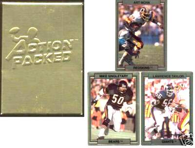 1989 Action Packed TEST Football - COMPLETE FACTORY SET (30 cards) Football cards value