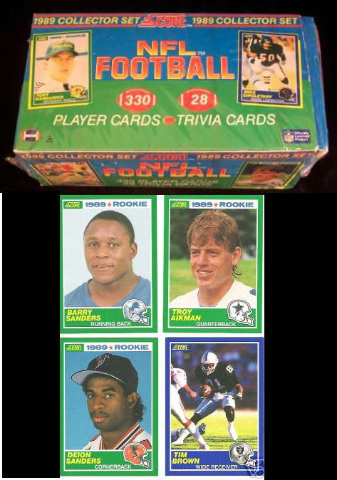 1989 Score Football - FACTORY SET (330 cards) (Cards are NM/MINT,box EX) Football cards value