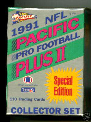 1991 Pacific Plus II FOOTBALL - FACTORY SEALED Special Edition SET Football cards value