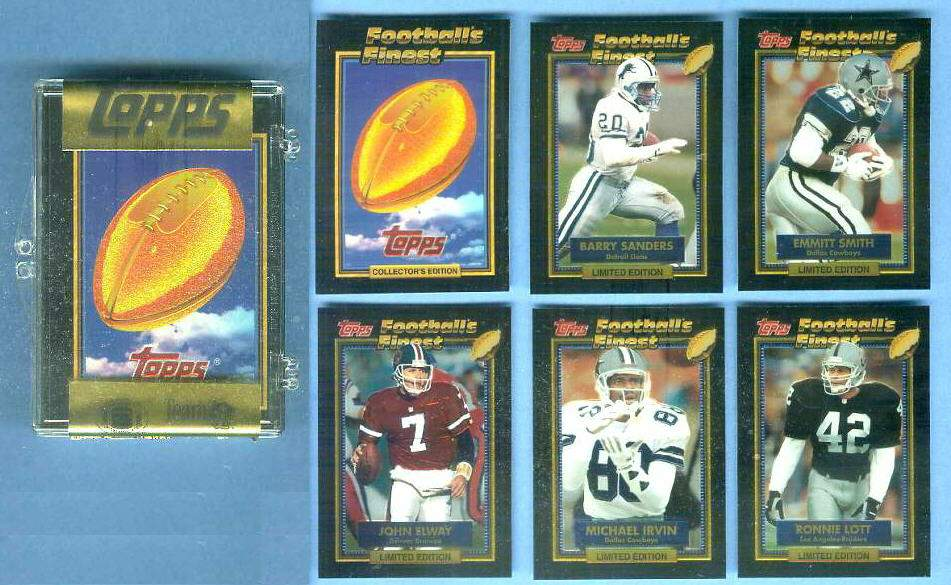1992 Topps FINEST Football - FACTORY SEALED SET (45 cards) Football cards value