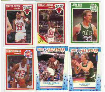 1989-90 Fleer Basketball - COMPLETE SET (168) + 11 STICKERS INSERT SET !!! Basketball cards value