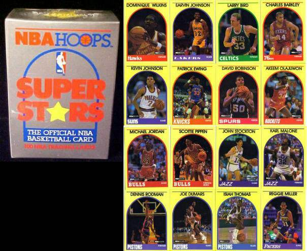 1989-90 Hoops SUPERSTARS Basketball - COMPLETE FACTORY SEALED SET (100) Basketball cards value
