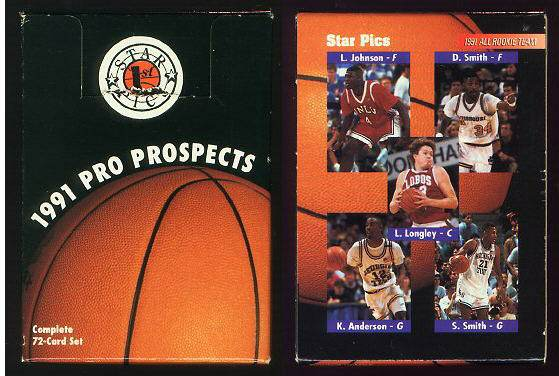 1991-92 Star Pics PRO PROSPECTS BASKETBALL - Lot (7) FACTORY SETS 72-cards Basketball cards value