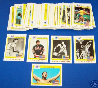 1983 Topps Greatest Olympians - COMPLETE SET (100 cards=99+#47 variation) Baseball cards value