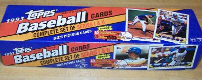 1993 Topps - SEALED FACTORY SET (825 cards + 10 TOPPS GOLD + 3 BLACK GOLD Baseball cards value